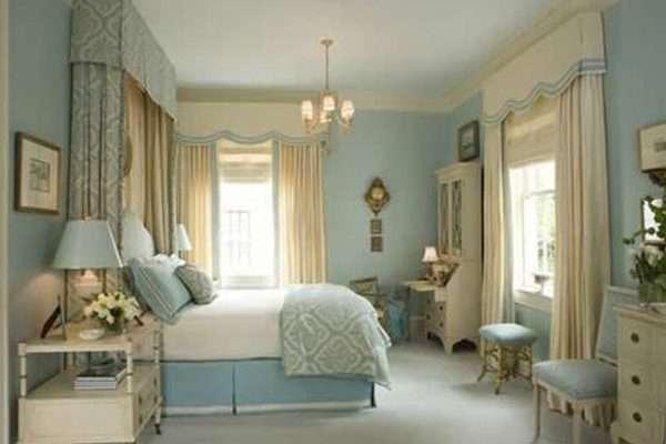 Светло голубые обои для спальни