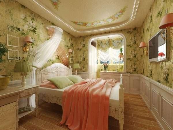 Стиль прованс в дизайне спальни на даче