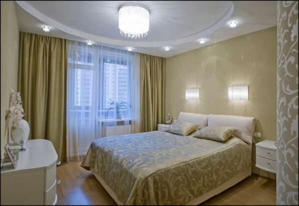 Дополнительные источники освещения для спальни 3 на 3