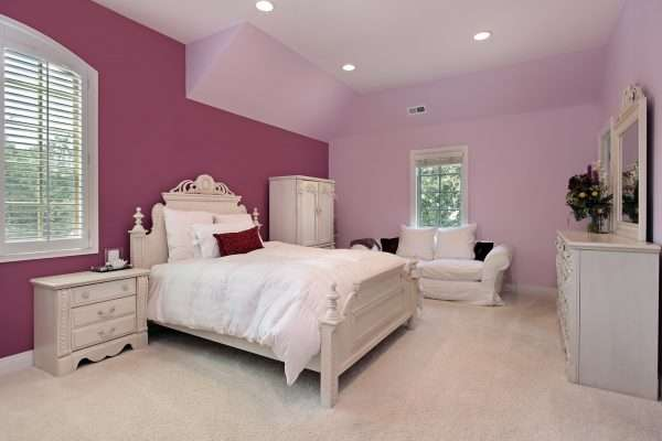 Обои под покраску для спальни