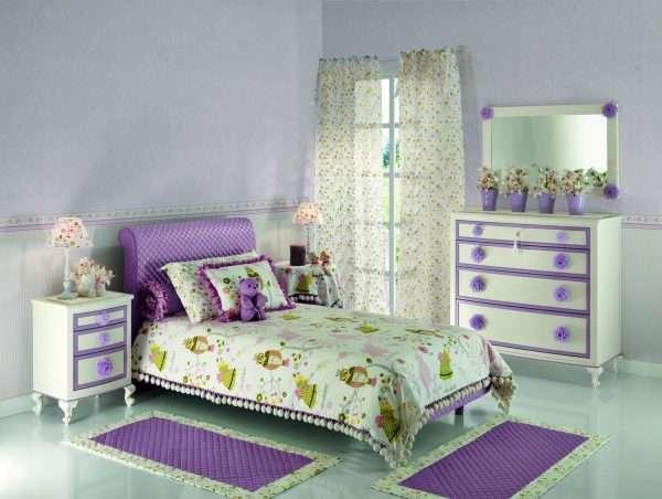 Романтический стиль в интерьере детской комнаты для девочки
