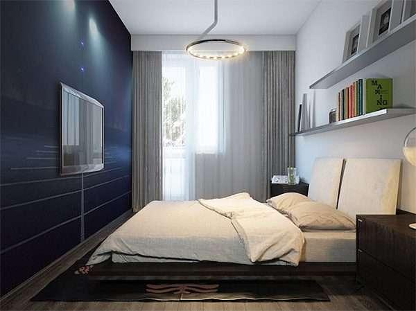 Однотонная ткань для штор и покрывала - лучший вариант для спальни 12 м