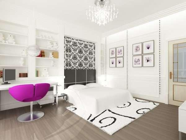 Белоснежная комната для девочки подростка