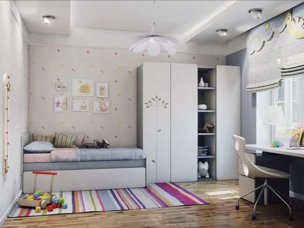 Пример оформления спальни для девочки