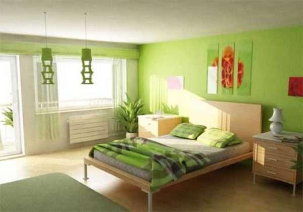 Зеленый цвет в дизайне интерьера.