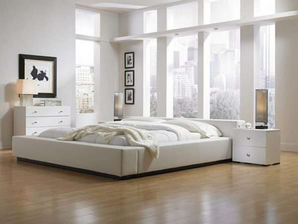 Отделка пола в спальне с помощью ламината