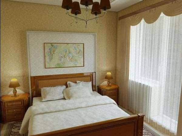 Пример спальни с балконом