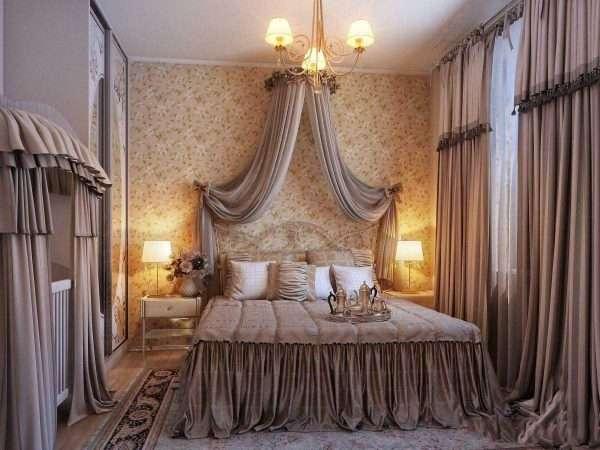 Текстиль для оформления спальни в классическом стиле