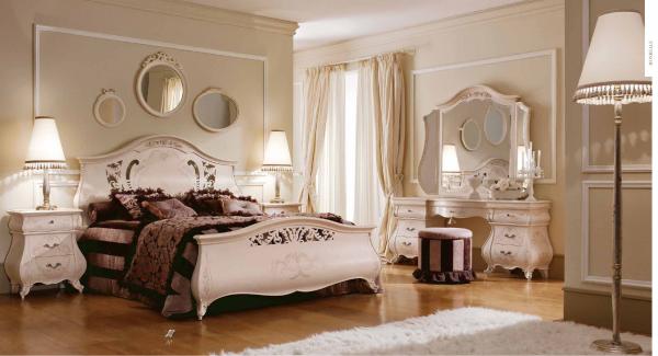 Ламинат для пола в спальню в классическом стиле