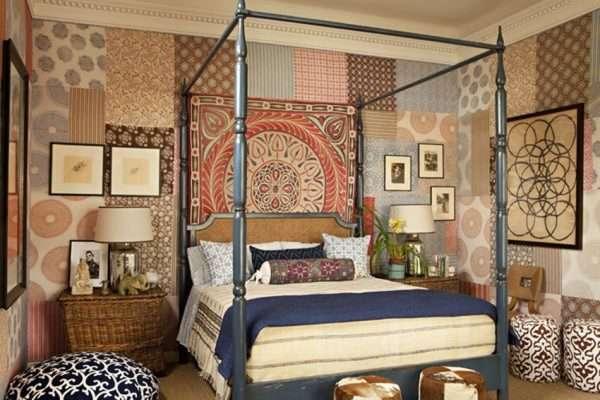 Лоскутная техника в оформлении спальни