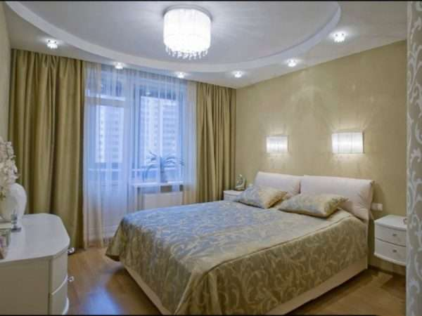 Освещение в спальне 12 м