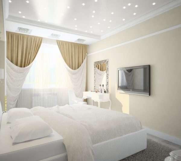 Используем светлые тона в интерьере маленькой спальни
