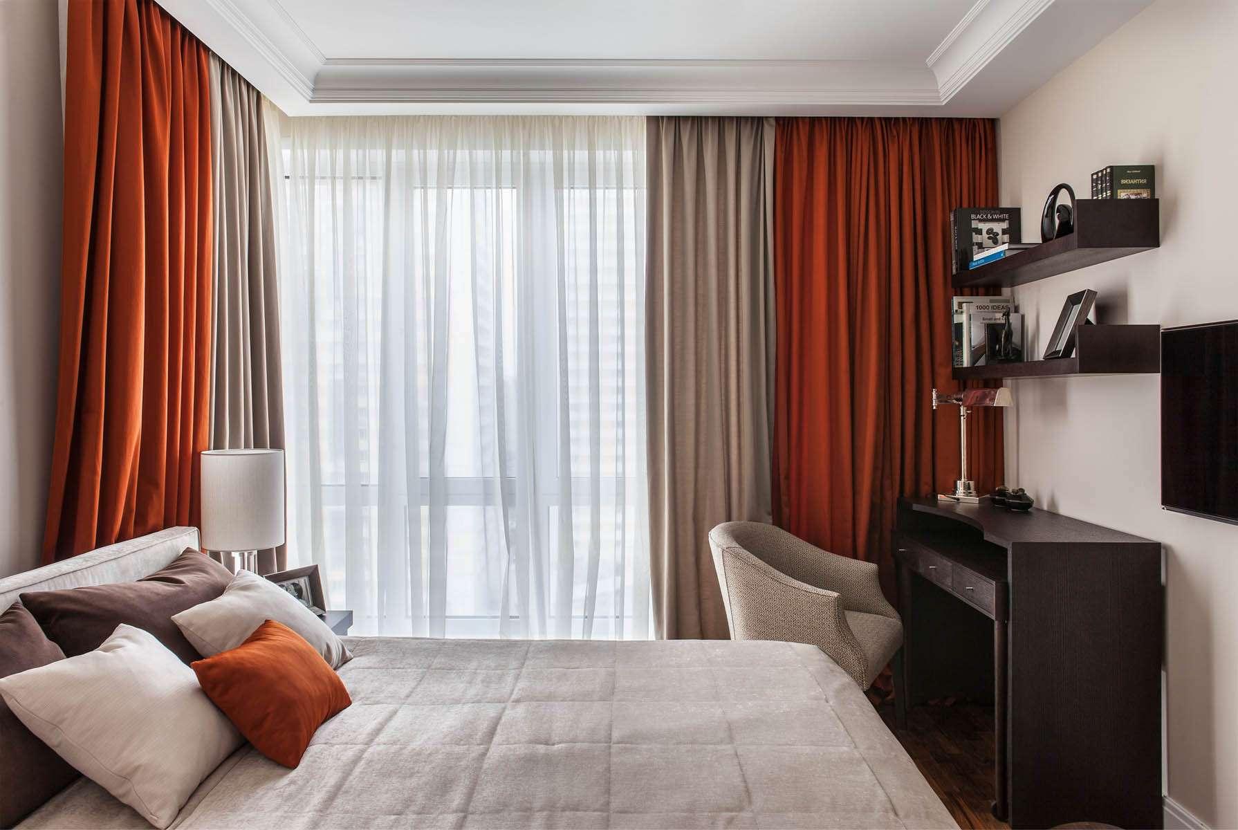 Современный дизайн спальни 12 кв.м