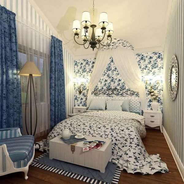 Освещение в спальне в стиле прованс