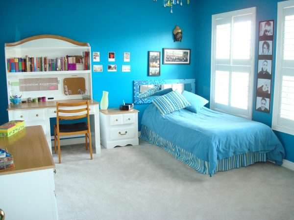 Бирюзовая спальня для девочки подростка
