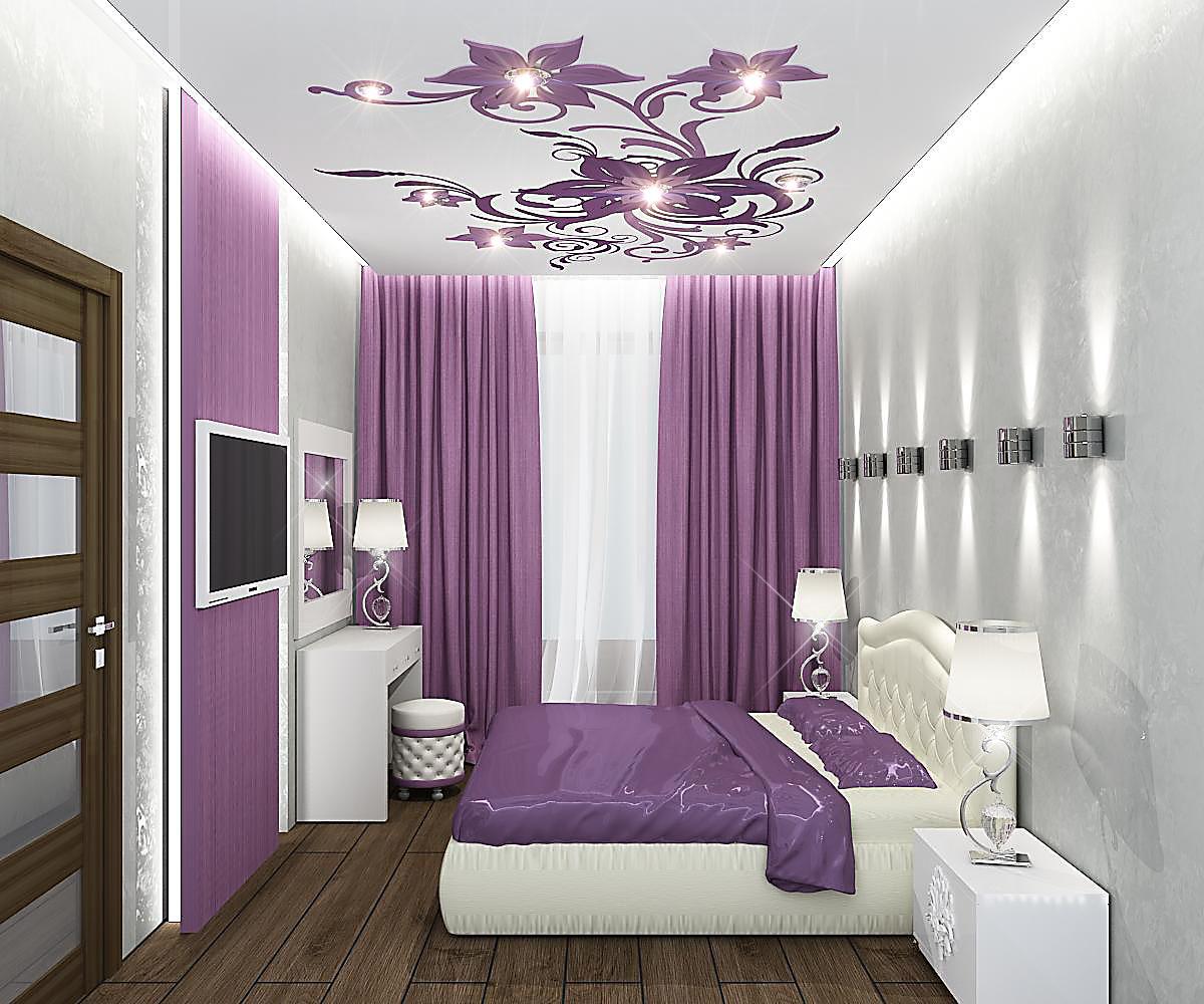 Спальня 7 кв.м дизайн