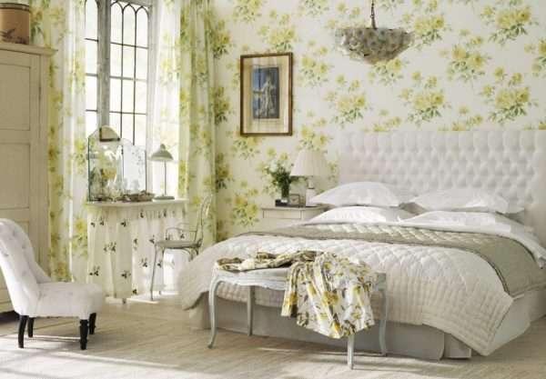 Дизайн спальни в силе шебби-шик