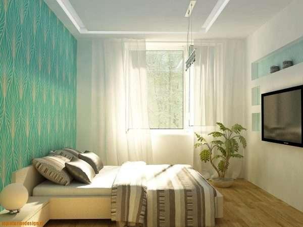 Оформление окна в маленькой спальне