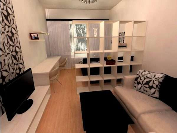 Спальня совмещенная с гостиной
