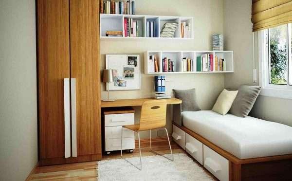 Дизайн спальни с 1,5 спальной кроватью
