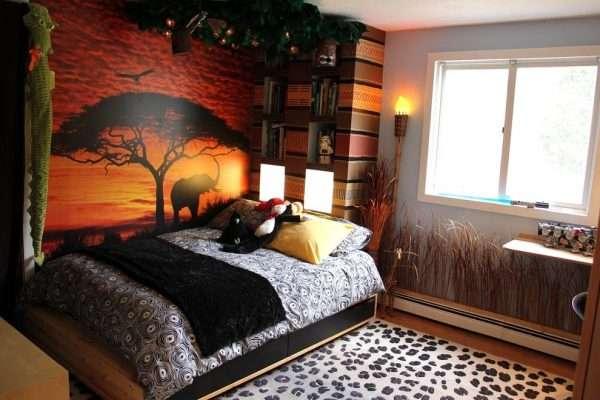 Фотообои в спальню в этническом стиле