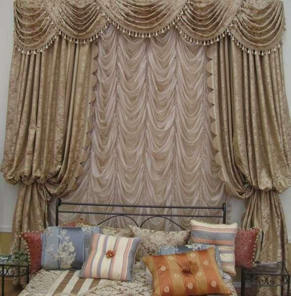 Французские шторы в классическом стиле