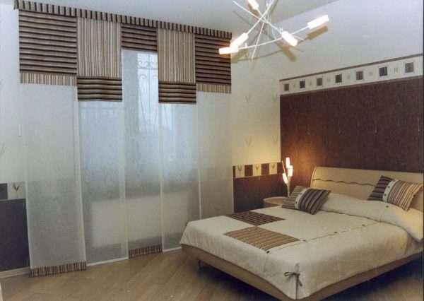 Японские шторы в стиле хай-тек