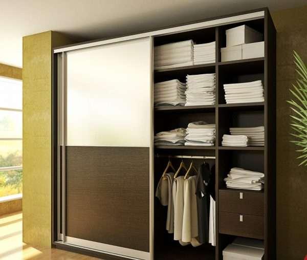 Внутренне наполнение шкафа-купе в спальне