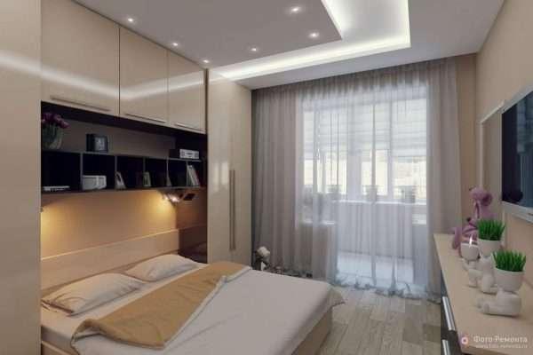 Дизайн маленькой спальни в бежевых тонах