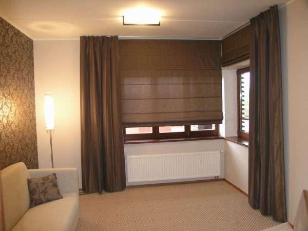 Римские шторы для спальни в стиле минимализм