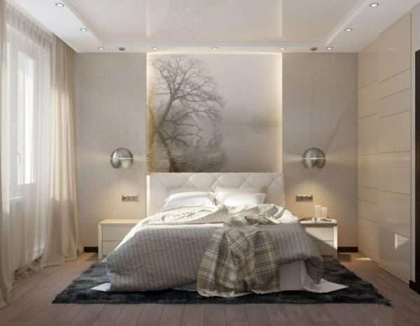 Освещение в маленькой спальне