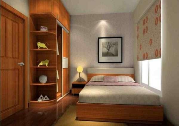 Дизайн маленькой спальни в современном стиле.