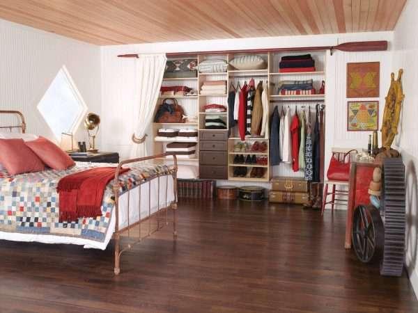 Дизайн спальни с маленькой гардеробной
