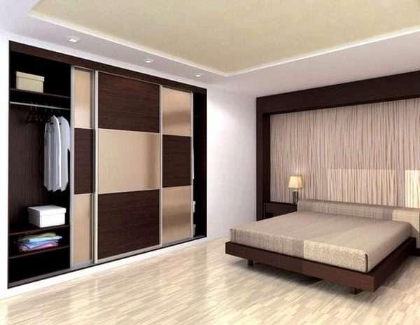 Дизайн встроенного шкафа купе в спальню