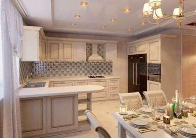 барная стойка на кухне-гостиной