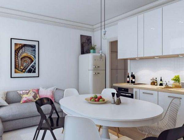 оформление малогабаритной кухни гостиной