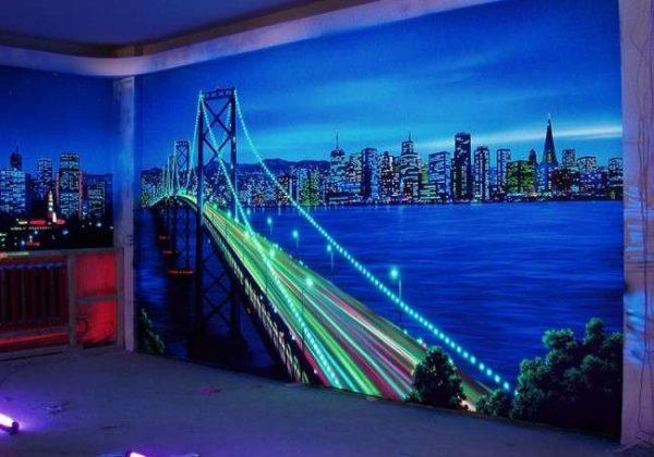 Ночной город со светодиодной подсветкой