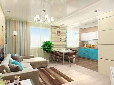 дизайн кухни гостиной 13 кв.м с диваном