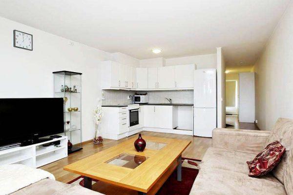 угловой гарнитур в интерьере кухни гостиной 13 кв. м