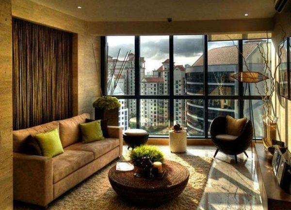 эко стиль в интерьере гостиной