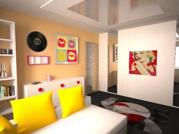 Гостиная в современном стиле - фото интерьеров дизайна