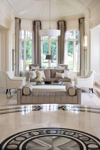 классический стиль в интерьере гостиной