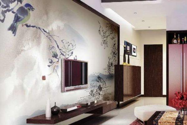 фреска для зонирования гостиной