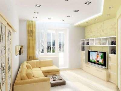 Дизайн гостинной в хрущевке 18 м.кв