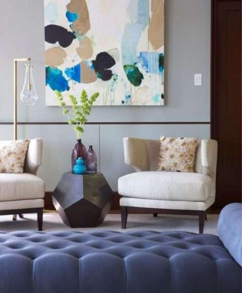 современный интерьер гостиной просто и со вкусом