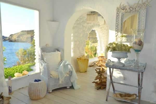 средиземноморский уклон в интерьере гостиной прованс