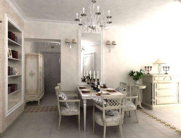 Интерьер гостиной прованс в частном доме