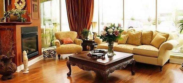 мебель в гостиной в английском стиле