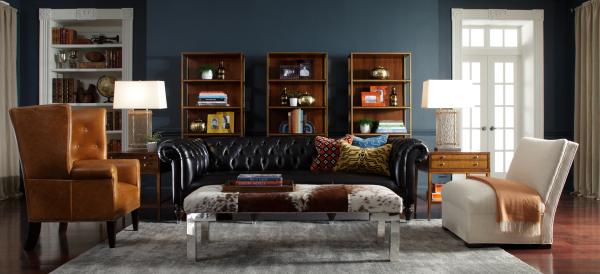 декор и мебель в гостиной в английском стиле