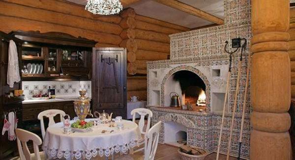 в гостиной русское кантри